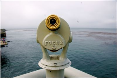 Picture Of A Short Range Telescope Out To Sea