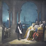 Picture Of Galileo Galilei Displaying His Telescope To Leonardo Donato