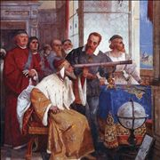 Picture Of Galileo Showed How To Use The Telescope