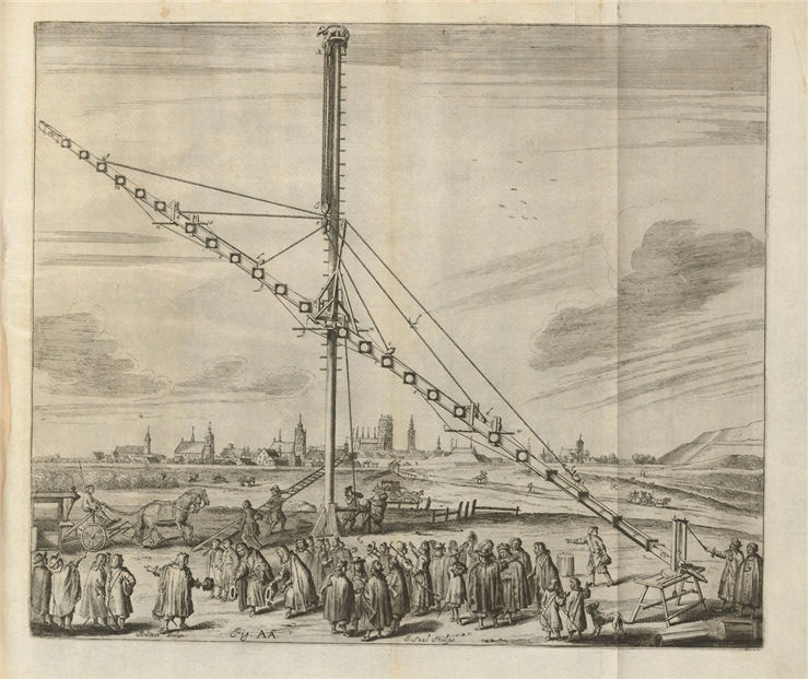 Picture Of Keplerian Astronomical Refracting Telescope Built By Johannes Hevelius