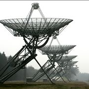 Picture Of Line Of Radio Telescopes In Westerbork Netherlands