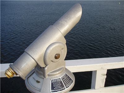 Picture Of Telescope And Dark Blue Water At The Timmendorfer Strand