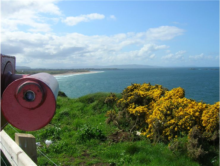 Picture Of Telescope And North Coast Of Ireland