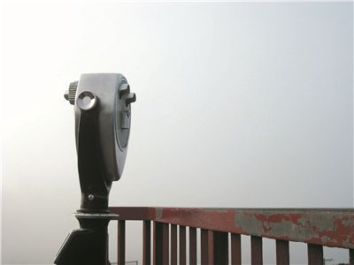 Picture Of Telescope And View At Golden Gate Bridge