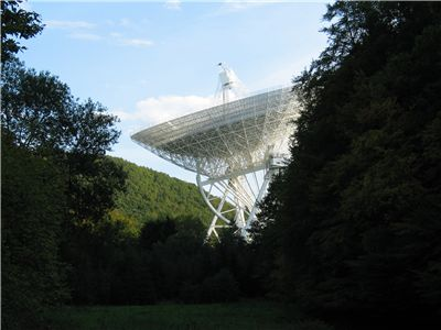 Picture Of Telescope Effelsberg In The German Landscape Eifel